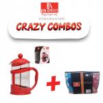 Bon Appetit Combo Coffee Plunger 800ml + Mug (Mimi na Wewe) 4pcs 12oz