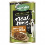 Natures Gift Dog Wet Food 700g Beef & Liver Meatloaf Recipe