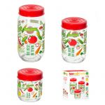 Herevin Canister Set 3pcs Decorated - Vegetables 171600-052