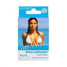 Contempo Condoms Wet & Wild B-P Pack of 3 661 NV