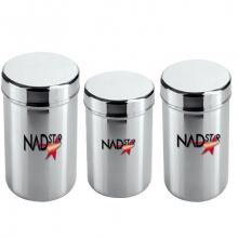 Nadstar8 Aluminium Dabba 3pcs Round 19*21
