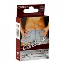 Contempo Condoms Bare-Back B-P Pack of 3 655 NV