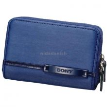 Sony Soft Carrying Case For Cyber Shot Blue With Leather Look LCS-CSVF