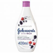 Johnsons Vita Rich Lotion 400mls Replenshing Raspberry 19108