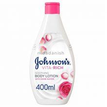 Johnsons Vita Rich Lotion 400mls Soothing Rose 19109