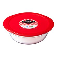 Ocuisine Round Dish + Red Lid 2.3L 26cm 208PC00-1046