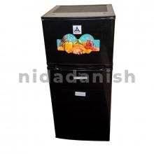 Delta Refrigerators 127L Double Door Defrost Black Silver Steel Color DRF-150