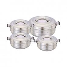 Maxima Hotpot 4pcs Silver Line Small 1000-1500-2500-3500ML