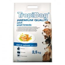 Tropidog Premium Adult Small Breed 2.5kg Rich in Salmon with Rice