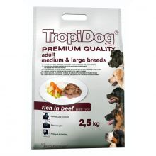 Tropidog Adult Medium & Large Breed 2.5kg Rich in Beef with Rice