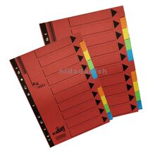 Academy Index Dividers A4 10 Part Manilla P00984