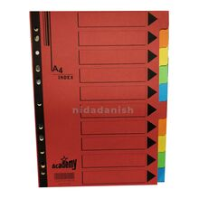 Academy Index Dividers A4 10 Part Manilla P00983