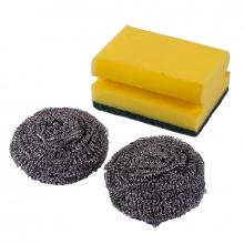 Oks Cleaning Kit Steel Wire & Sponges 2+1 3pcs 4013B