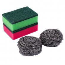 Oks Cleaning Kit Steel Wire & Sponges 2+2 4pcs 4022