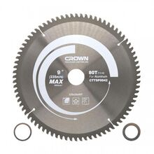 Crown TCT Saw Blade For Aluminium PVC 9inches CTTSP0042