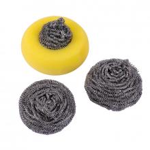 Oks Cleaning Kit Steel Wire & Sponges 2+1 3pcs 4013A