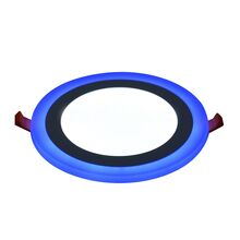 Rother Electrical LED Round Panel Double Color Light Cool White Blue 12-4W RLE18803B