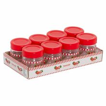 Herevin Jar Honey And Jam 8x40CC Decorated - Strawberry 131503-806
