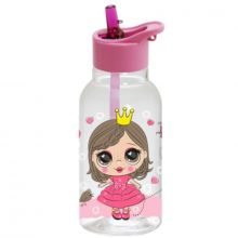 Herevin Water Bottle 0,46Ltr Decorated With Straw - Princess 161807-390