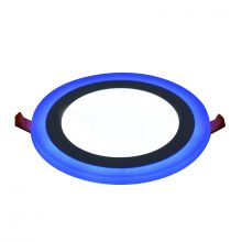Rother Electrical LED Round Panel Double Color Light Cool White Blue 3-3W RLE18801B