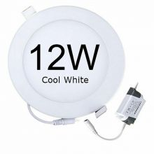 Rother Electrical LED Round Panel Light 12W Cool White RLE18104