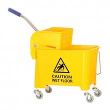 Nadstar2 Cleaning Mop Bucket 24L Single Mop Side Press Wring Trolley AF08068