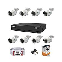 D-Link 8 Channel CCTV 2MP Kit 8PCS Bullet with All Accessories