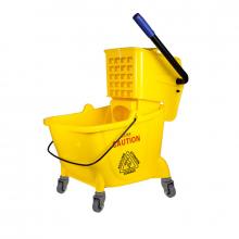 Nadstar2 Cleaning Mop Bucket 30L Single Mop Side Press Wring Trolley AF08079