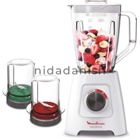 Moulinex Blender Facilic Liquidizer 600W 1.5 Ltrs. With Grinder & Mill LM423127