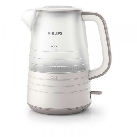 Philips Kettle 2200W 1.5L Semi Transparent Plastic HD9334