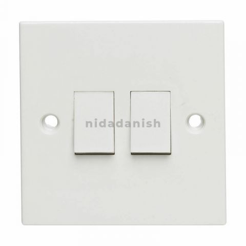 Rother Electrical Anglo Series Switch Sockets Two Gang Two Switch RTE50104