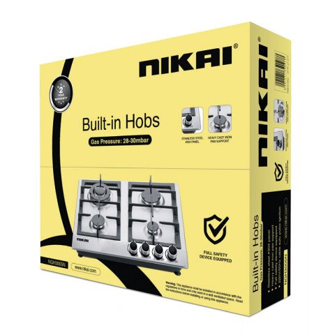 Nikai Gas Built In Hob 4 Burner NGH3005n