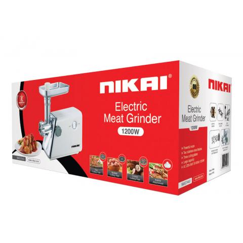 Nikai Meat Grinder 1200w 2 Steel Blades NMG744U