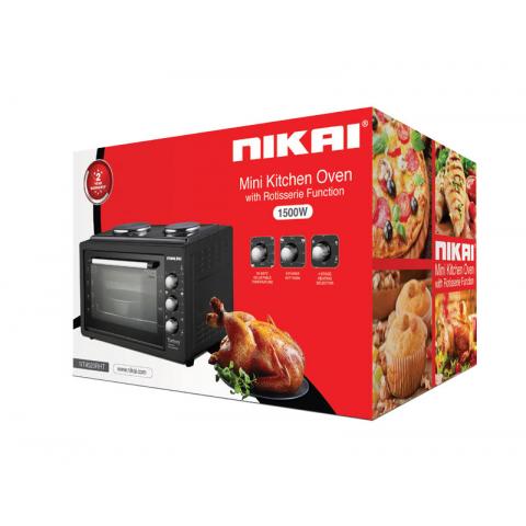 Nikai Oven 20L 2 Hot Plate 1800w NT4520RHT Black