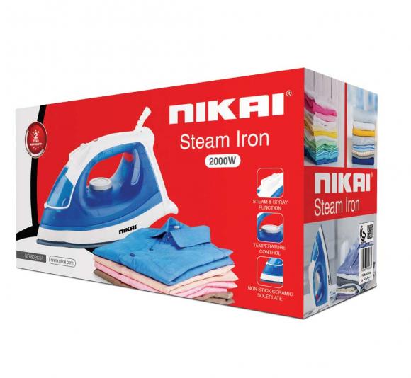 Nikai Steam Iron 2000w NSI602CS1